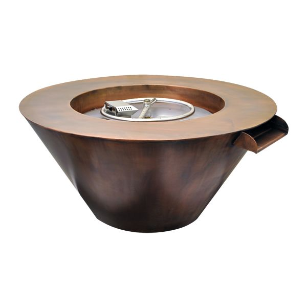 Mesa Copper Gas Fire & Water Bowl image number 0