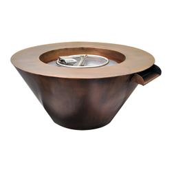 Mesa Copper Gas Fire & Water Bowl