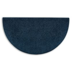 Midnight Blue Flame 4' Half Round Polyester Fireplace Rug