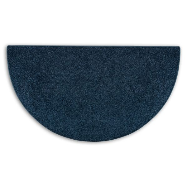 Midnight Blue Flame Half Round Polyester Fireplace Rug - 4' image number 0
