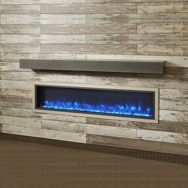 "Midnight Mist Supercast Fireplace Mantel Shelf - 60"" image number 0"