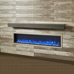 Midnight Mist Supercast Fireplace Mantel Shelf - 72""
