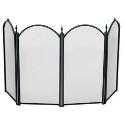 Mini Black 4-Panel Fireplace Screen