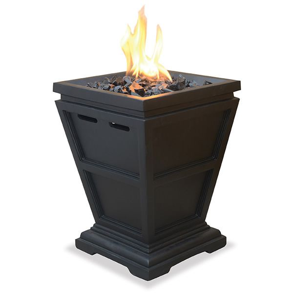 Mini Outdoor Propane Fireplace - Black image number 0