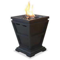 Uniflame Black Mini Outdoor Propane Fire Column