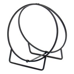 """22"""" Wrought Iron Solid Stock Hoop Wood Holder"""