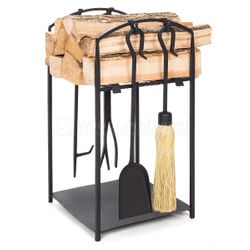 Mission I Indoor Firewood Rack with Tools