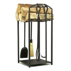 Mission II Indoor Firewood Rack with Tools