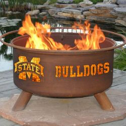 Mississippi State Wood Burning Fire Pit