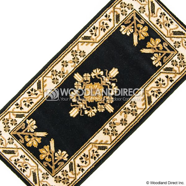 "Noir Jardin Rectangular Fireplace Hearth Rug - 44""x22"" image number 2"