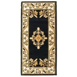 "Noir Jardin 44""x22"" Rectangular Fireplace Hearth Rug"