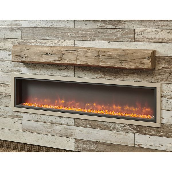 "60"" Non-Combustible Weathered Barnwood Supercast Wood Mantel image number 0"