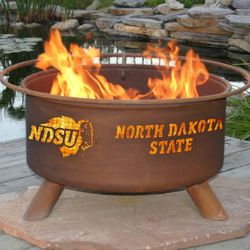 North Dakota State Wood Burning Fire Pit