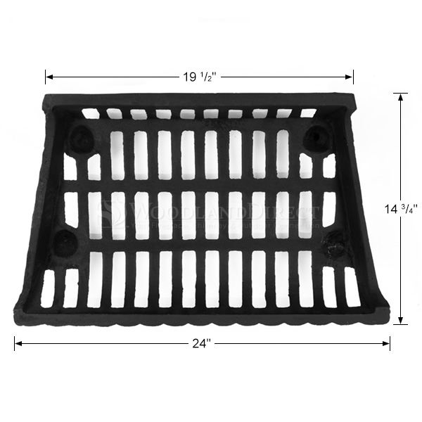 """Northern Flame Cast Iron Fireplace Grate - 24"""" image number 1"""