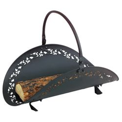 Filigree Indoor Firewood Rack - Black