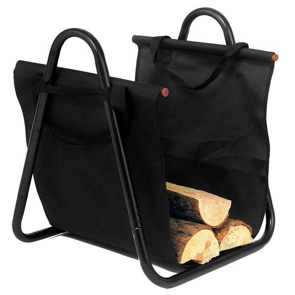 Northern Flame Indoor Firewood Rack with Black Canvas Carrier image number 0