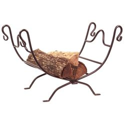 Wrought Iron Indoor Firewood Rack - Bronze