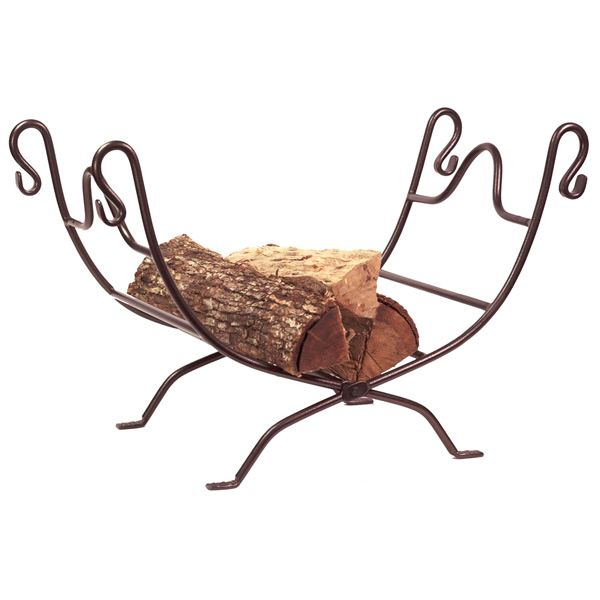 Northern Flame Wrought Iron Indoor Firewood Rack - Bronze image number 0