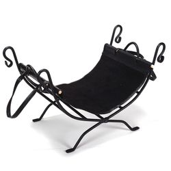 Wrought Iron Indoor Firewood Rack with Carrier