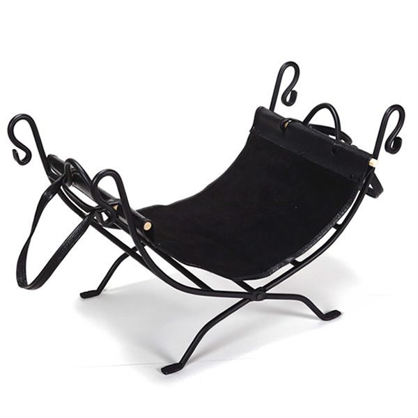 Northern Flame Wrought Iron Indoor Firewood Rack with Carrier image number 0