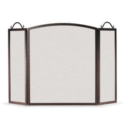 Napa Forge 3-Panel Traditional Arch Fireplace Screen