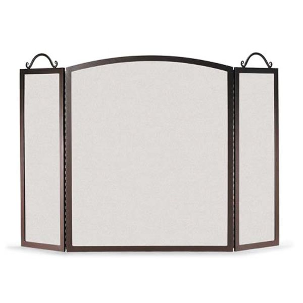 Napa Forge Three Panel Traditional Arch Fireplace Screen image number 0