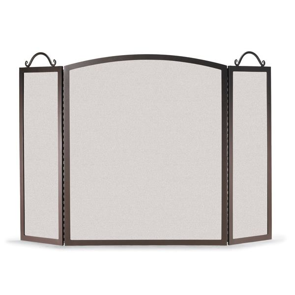Napa Forge Traditional Arch Three Panel Fireplace Screen image number 0