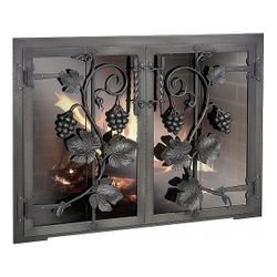 Napa Valley Masonry Fireplace Glass Door