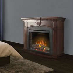 "Napoleon 33"" Ascent Electric Fireplace with Harlow Mantel"