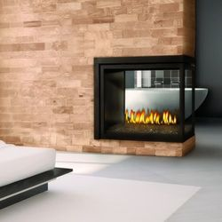 Napoleon BHD4PG Peninsula Direct Vent Gas Fireplace with Fire Glass