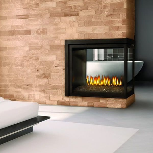 Napoleon BHD4PG Peninsula Direct Vent Gas Fireplace with Fire Glass image number 0