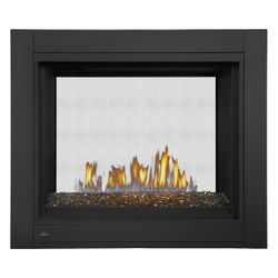 Napoleon BHD4STG See Through Direct Vent Gas Fireplace with Fire Glass