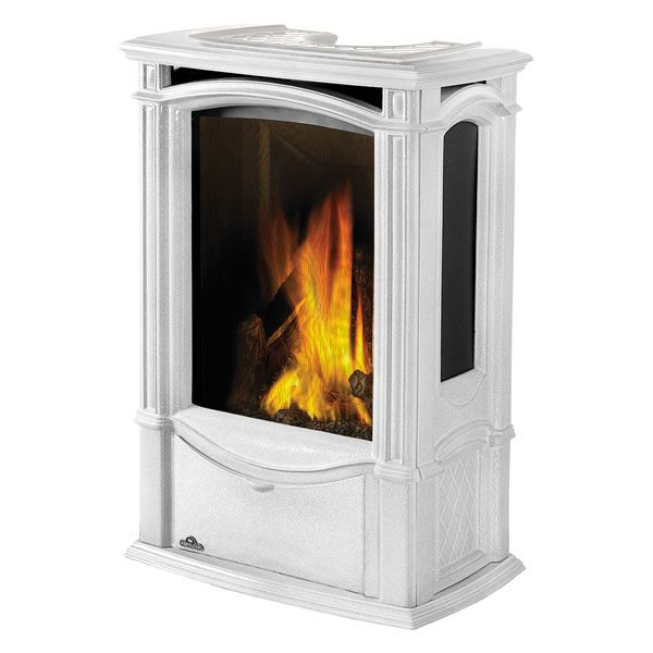 Napoleon GDS26 Castlemore Direct Vent Cast Iron Gas Stove - Winter Frost image number 1
