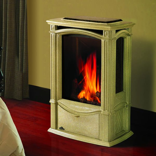 Napoleon GDS26 Castlemore Direct Vent Cast Iron Gas Stove - Winter Frost image number 0