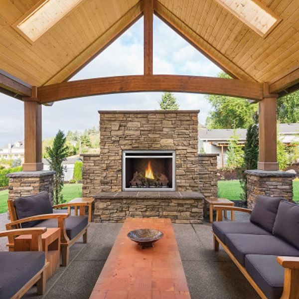 Napoleon Riverside 36 Clean Face Outdoor Fireplace image number 0