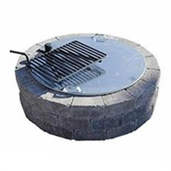 Necessories Fire Ring Slotted Cover with Grate Opening