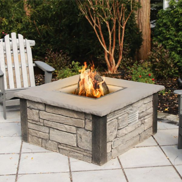 Nicolock Encore Smoke-Less Wood Burning Fire Pit with Breeo Insert image number 0