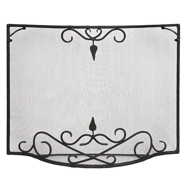 """Bostonian Curved Fireplace Screen - 39"""" x 31"""" image number 0"""