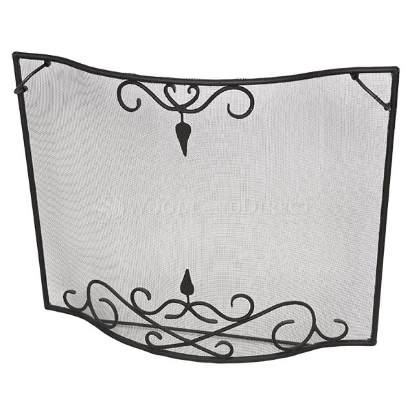 """Bostonian Curved Fireplace Screen - 39"""" x 31"""" image number 2"""