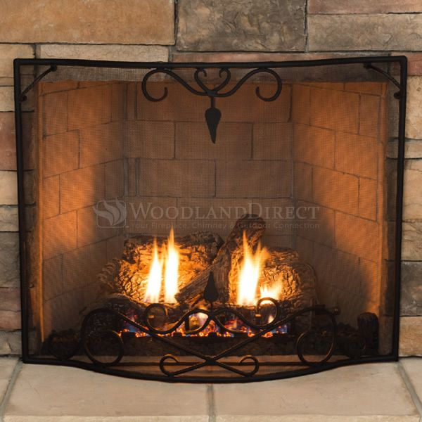 """Bostonian Curved Fireplace Screen - 39"""" x 31"""" image number 3"""