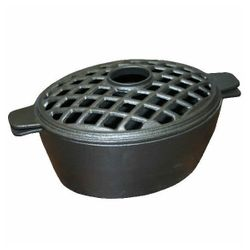 Small Lattice Wood Stove Steamer - Black