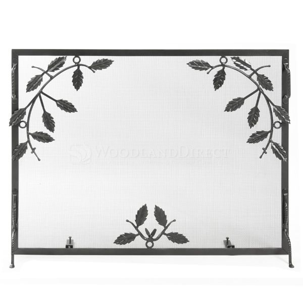 "Small Weston Graphite Finish Fireplace Screen - 38"" x 30"" image number 0"