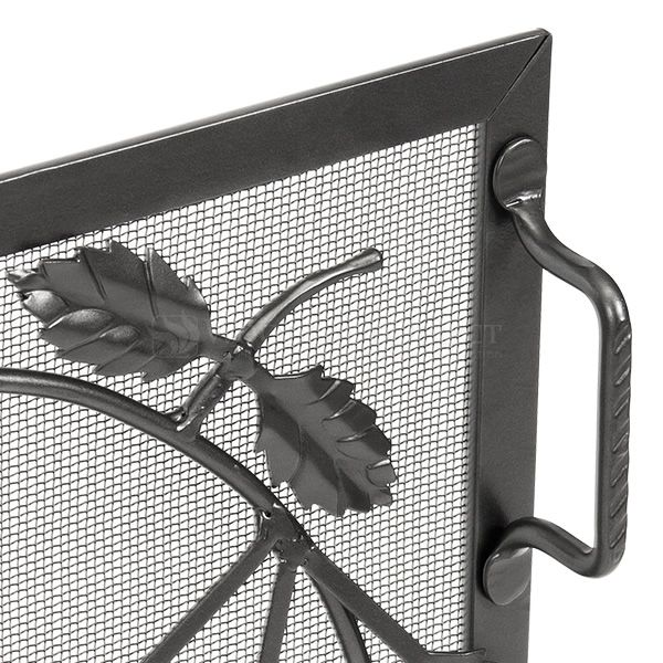 "Small Weston Graphite Finish Fireplace Screen - 38"" x 30"" image number 1"