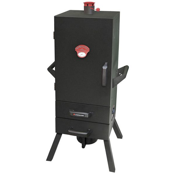 "Smoky Mountain Charcoal Smoker with drawers & Chimney Top - 34"" image number 0"