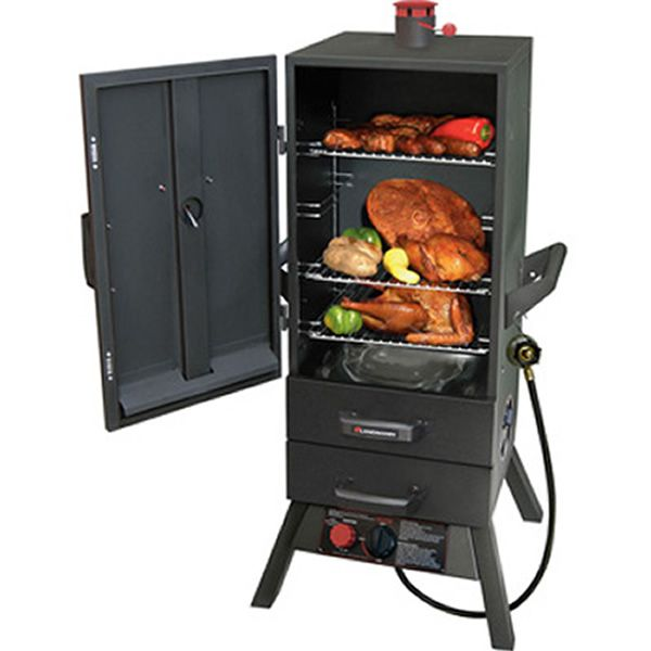 "Smoky Mountain Charcoal Smoker with drawers & Chimney Top - 34"" image number 1"
