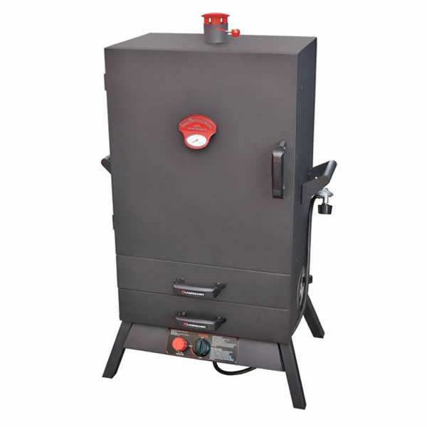 "Smoky Mountain Wide Gas Smoker with Drawers - 38"" image number 0"