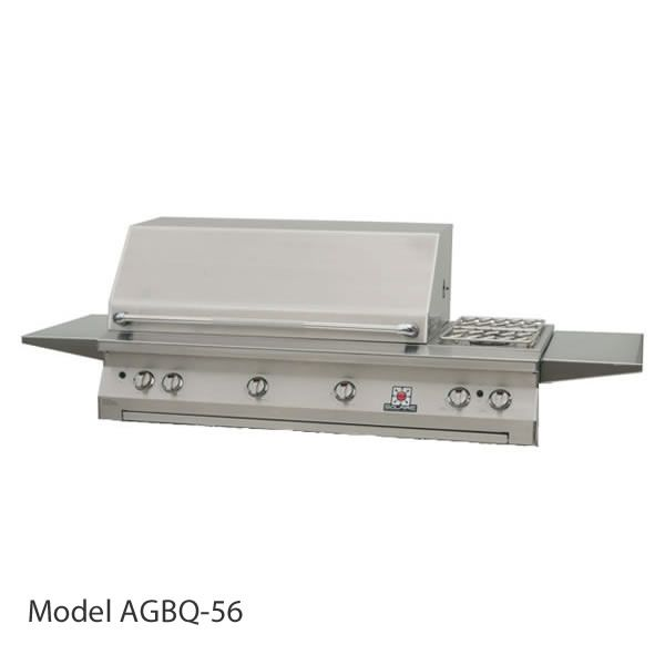 "Solaire Built-In Gas Grill with Dual Side Burner- 56"" image number 1"