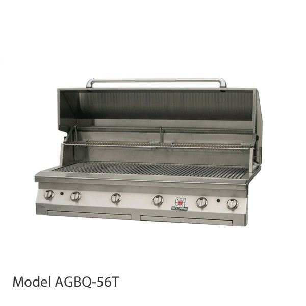 "Solaire Built-In Gas Grill with Dual Side Burner- 56"" image number 0"