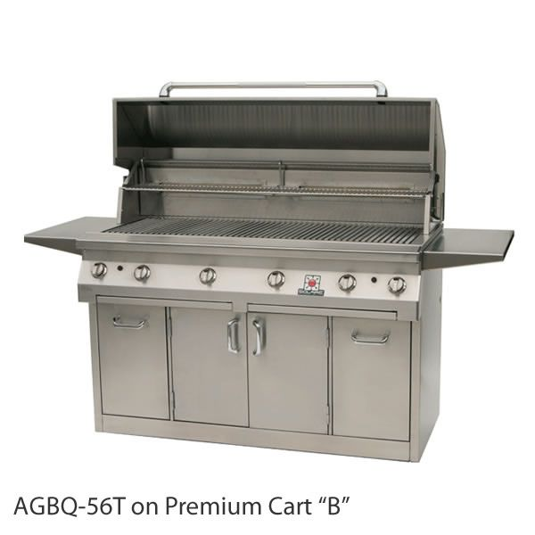 "Solaire Cart-Mount Gas Grill with Dual Side Burner - 56"" image number 1"