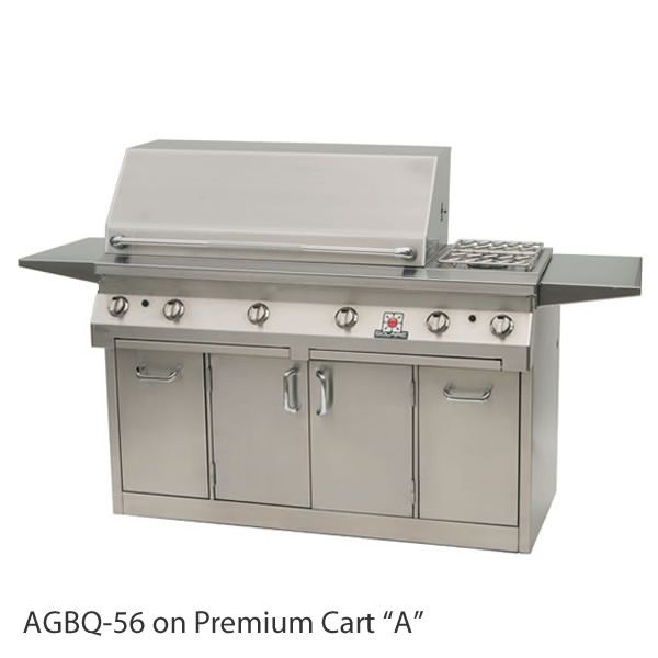 "Solaire Cart-Mount Gas Grill with Dual Side Burner - 56"" image number 2"
